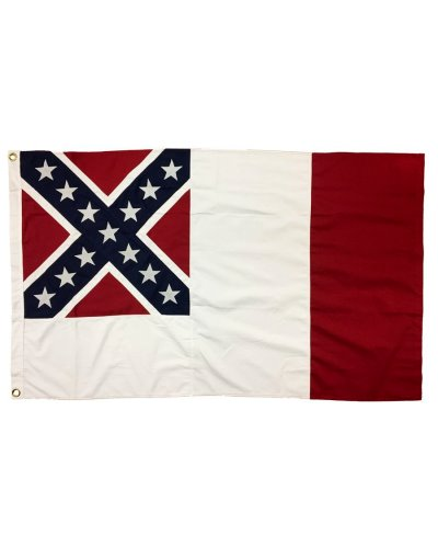 Confederate Third National sewn cotton flag